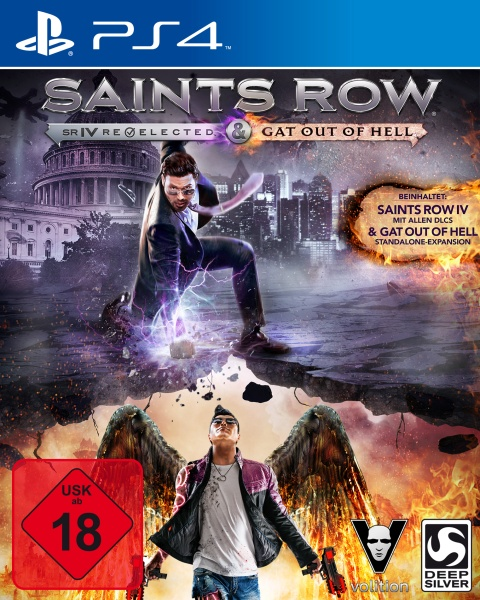 Saints Row IV Re-elected + Gat out of Hell First Ed. - 100% UNCUT (PS4) Englisch