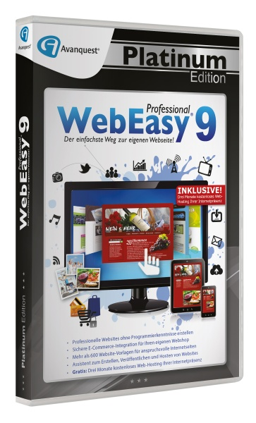 WebEasy 9 Professional - Avanquest Platinum Edition