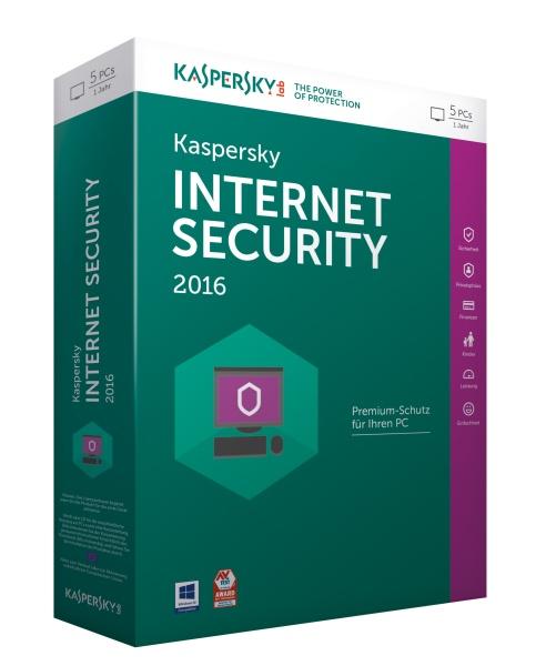 KASPERSKY Internet Security 2016 5 Lizenzen Sierra Box(DE)