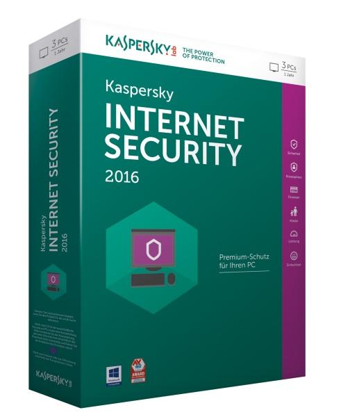KASPERSKY Internet Security 2016 3 Lizenzen Sierra Box(DE)