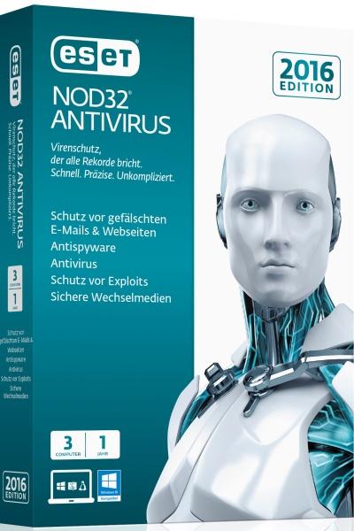 ESET NOD32 Antivirus 2016 3User Box
