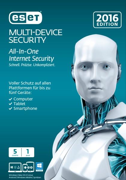 ESET Multi Device Security 2016 5User FFP Box