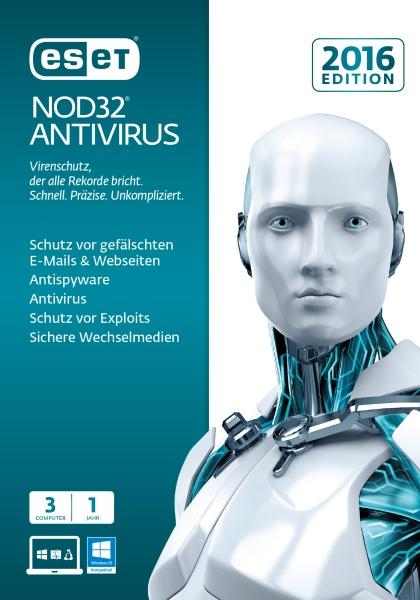 ESET NOD32 Antivirus 2016 3User FFP Box