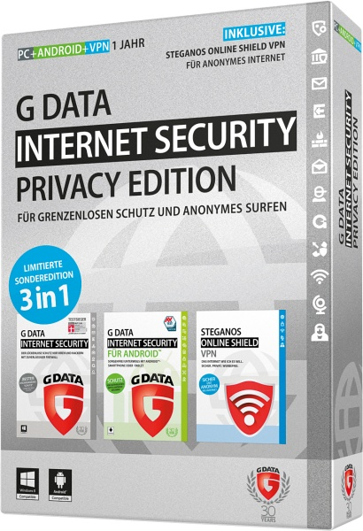 G DATA Software Internet Security Privacy Edition - Box-Pack ( 1 Jahr ) - 1 PC, 1 Android-Telefon