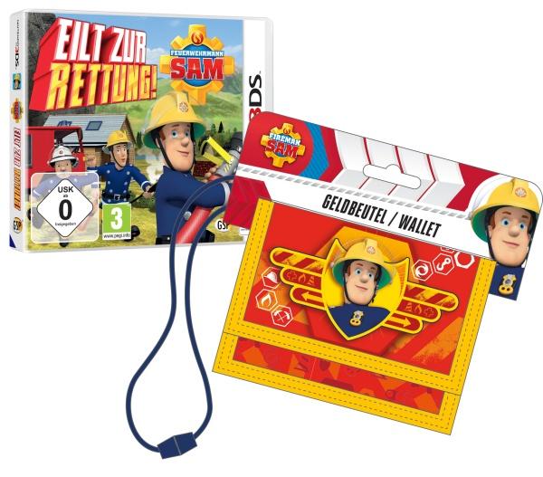 Feuerwehrmann Sam 3DS mit Geldbörse (3DS)