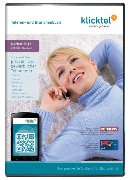 klickTel Telefon- und Branchenbuch Herbst 2016