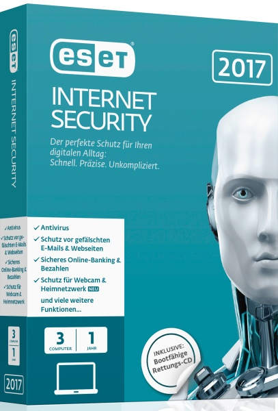 ESET Internet Security 2017 Edition 3 User Box