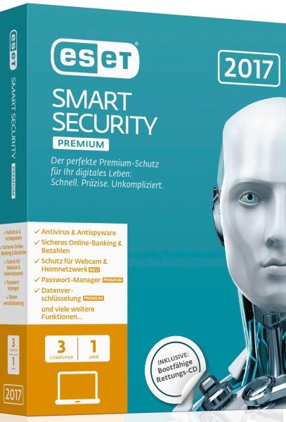 ESET Smart Security Premium 2017 Edition 3 User Box