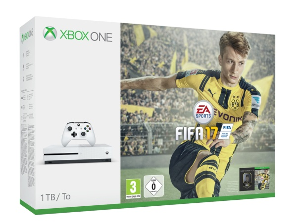 MS Xbox One S 1TB FIFA 17 Bundle