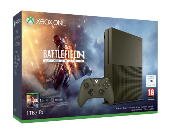 MS Xbox One S 1TB Battlefield 1 Special Edition Bundle