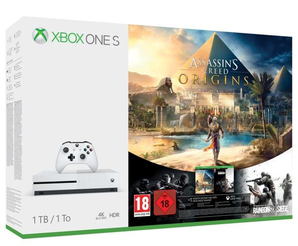 Microsoft MS Xbox One S 1TB Assasins Creed Bundle