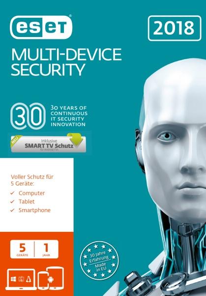 ESET MultiDevice Security 2018 5U FFP - Software - Firewall/Security