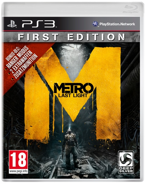 Metro: Last Light - First Edition - 100% UNCUT (PS3)