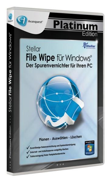 Avanquest Platinum Edition - Stellar File Wipe f�r Windows