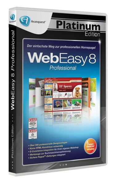 Avanquest Platinum Edition - WebEasy 8 Professional